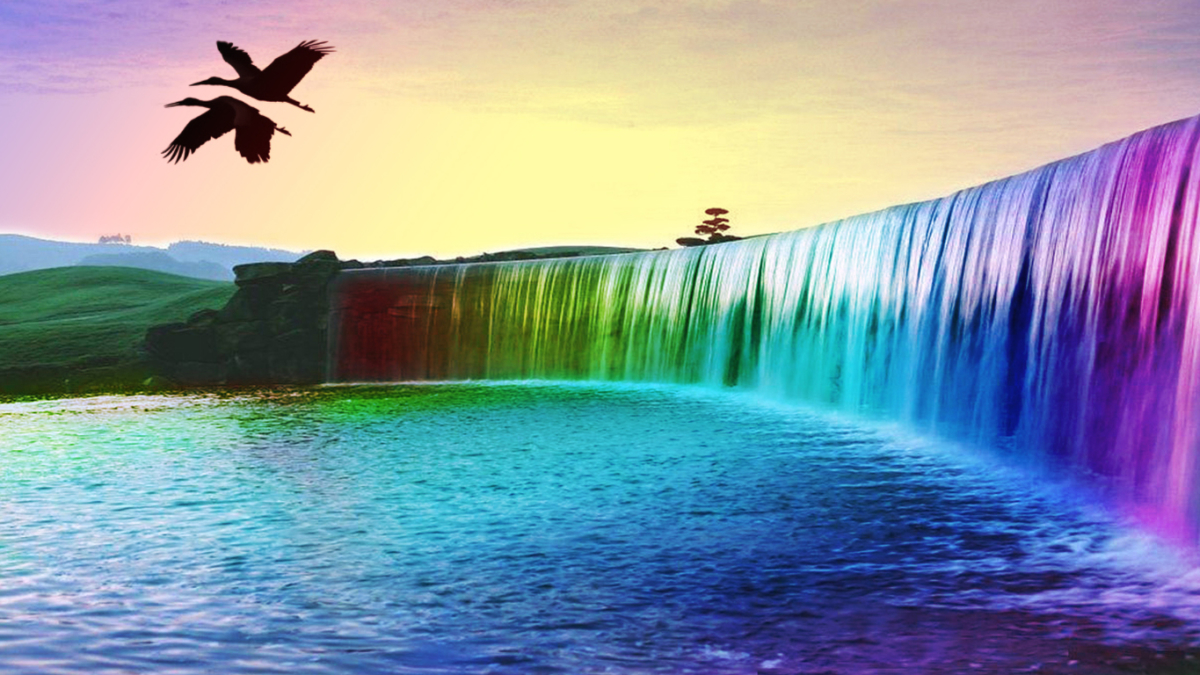34726-1366x768-Rainbow-Waterfalls-Of-Dreams